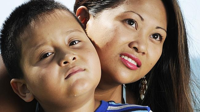Gizelle Laurente was outraged when her son Jacob Priem turned away from a Qantas flight d