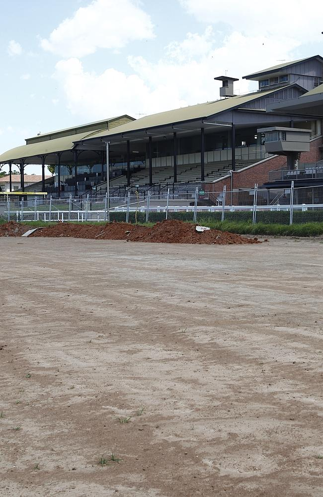 The Eagle Farm racetrack redevelopment during the early stages of the project.