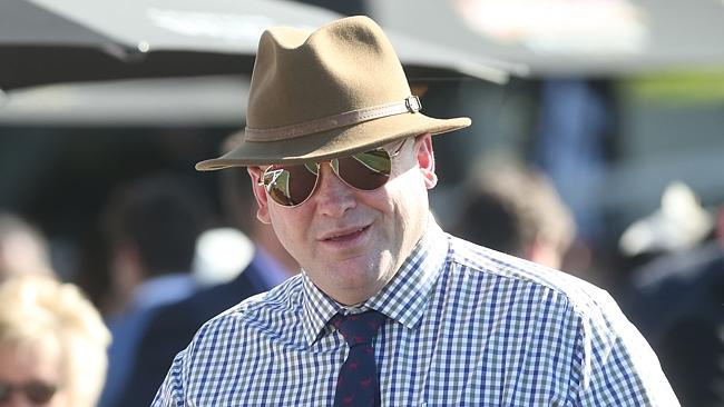 Trainer Peter Moody at the Doomben 10,000 race day. Picture: Jono Searle.