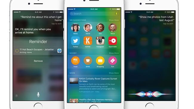 New look ... Apple's personal assistant Siri gets a new look in iOS 9.
