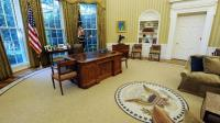 President Barack Obama gets comfy in the Oval Office   The ...