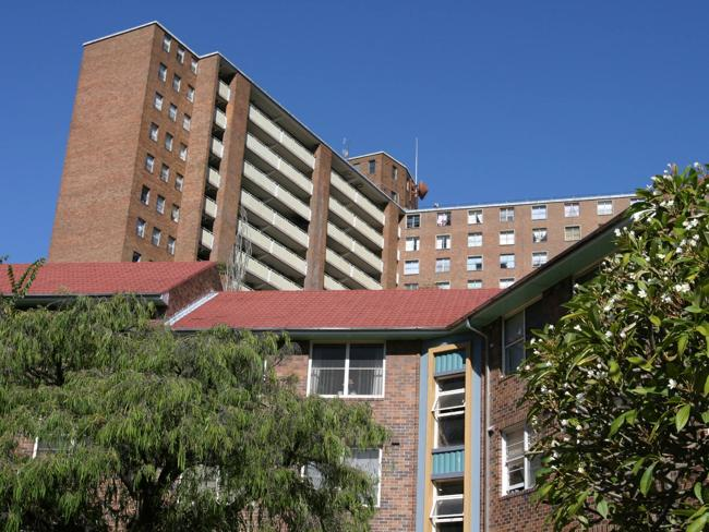 A file image of public housing in Surry Hills. Picture: Bob Barker