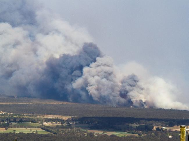 View of Londonderry fires from Bowen Mountain. Picture: Duncan Media