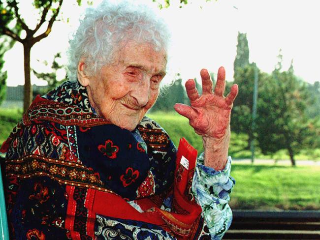 IF Mr Ebba's claims are true he will knock off the previous titleholder Jeanne Calment, 122. Picture: AFP