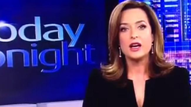 Today Tonight presenter Helen Kapalos suffered through a TV presenter's nightmare in June. Picture: Supplied