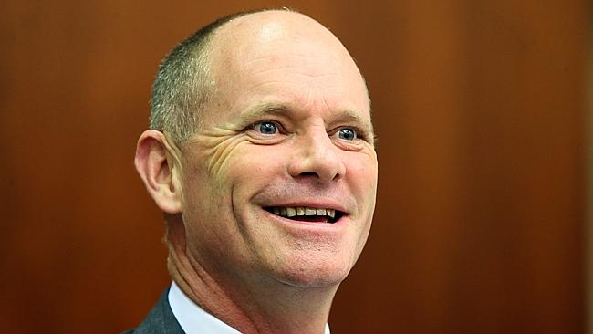 Premier Campbell Newman rallies the troops at the LNP's first party room meeting of the year. Picture: ...