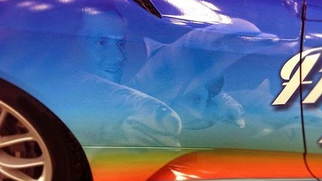 Tom Boonen's face features on his car.