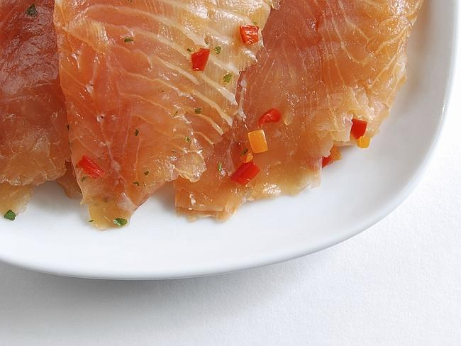 Smoked salmon with some chilli, to spice things up.