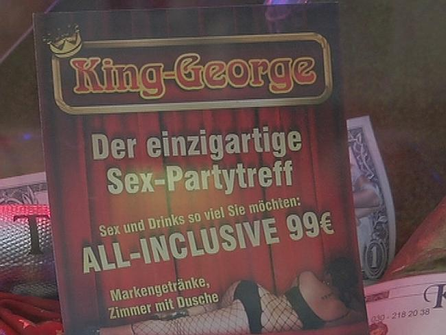 A brochure which translates (roughly) to all the drinks and women you want for 99 euros.