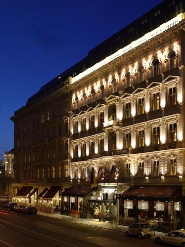 The traditional Hotel Sacher is located in the heart of Vienna.