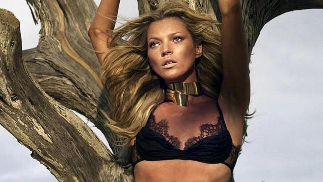 Moss posed for Roberto Cavalli's spring and summer collection in 2006.