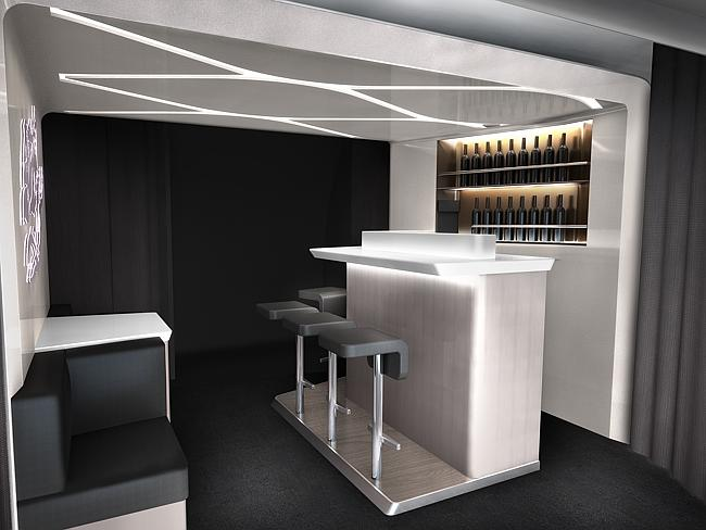 Virgin Australia's new business class fit-out.