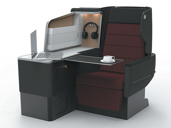 An artist's impression of Qantas' new business class suite.