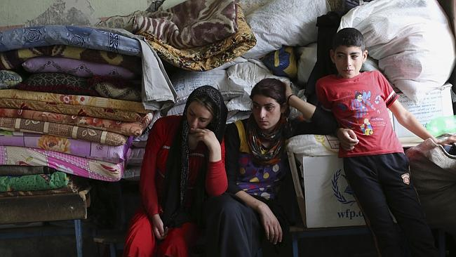 No hope ... Internally displaced Iraqi Yazidis who fled from Sinjar and other towns after