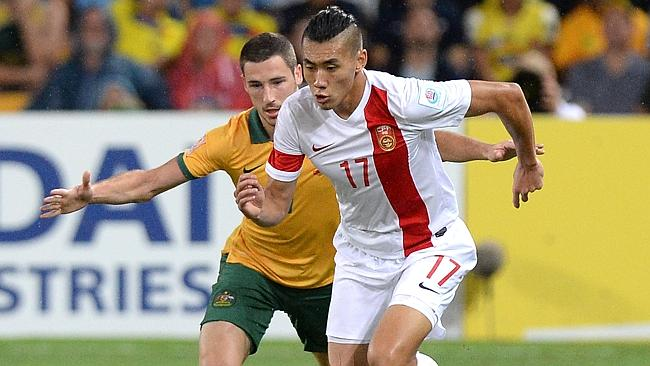 The Socceroos forced their way into the game in the second half.