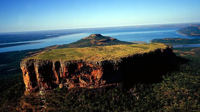 Mount Trafalgar, overlooking Prince Regent River, in north Kimberley.
