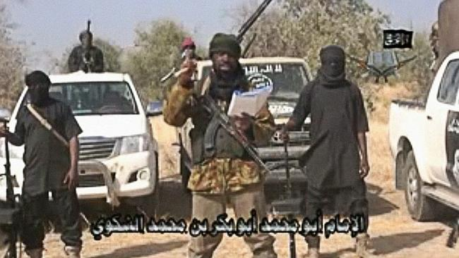 Global threat ... a video from extremist group Boko Haram posted on YouTube. Picture: AFP
