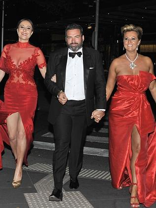 Jackie Gillies with Bruce and Chyka Keebaugh at Logies