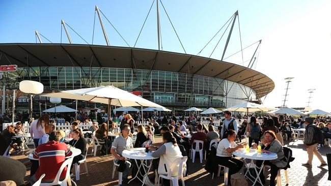 Hillsong Church holds a week long convention at Acer Arena in Olympic Park. Attendees gat