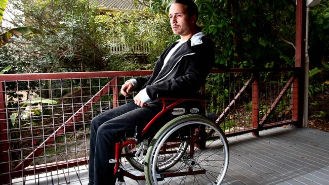Burleigh resident Stephen Terrasi is in a wheelchair and unable to work however Centrelin
