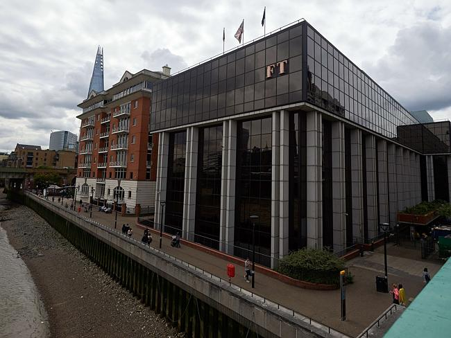 New owners ... The headquarters of the Financial Times newspaper in London. Picture: Nikl
