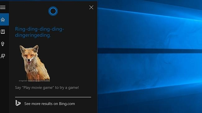 Foxy answers ... Microsoft's first personal assistant, Cortana, debuts in Windows 10 and
