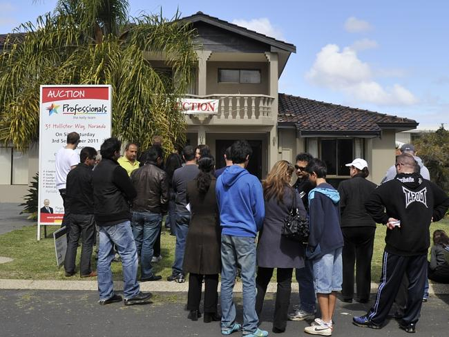Priced out ... young people are giving up after not getting a look in at auctions.