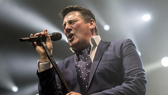 Spandau Ballet's Tony Hadley performing at the Perth Arena.