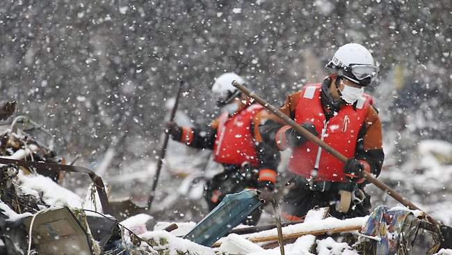 snow rescue crews japan