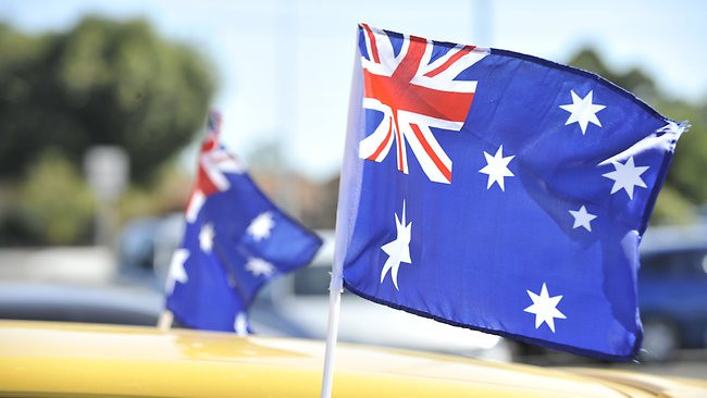 australia day car flags