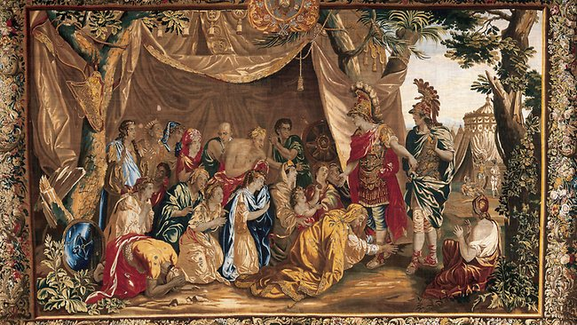 Alexander the Great exhibition tapestry