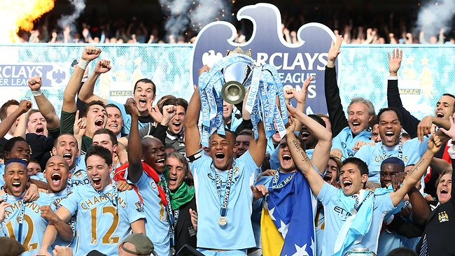 Manchester City champions 2012