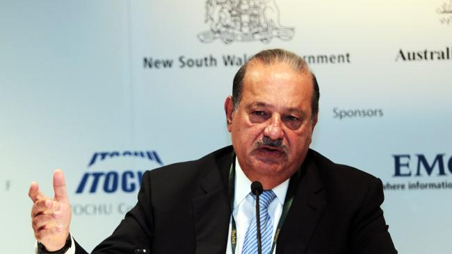 Mexican telco tycoon Carlos Slim Helu. Picture: File