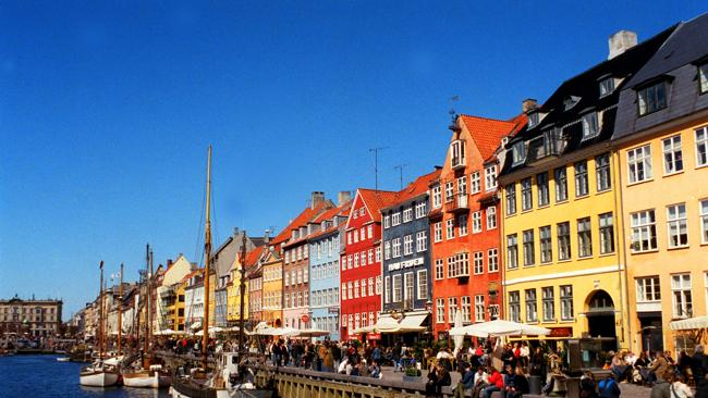 The canal waterfront at Nyhavn, Denmark. Picture: Jenny, Stevens