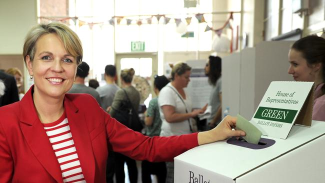 Tanya Plibersek voting on election day.