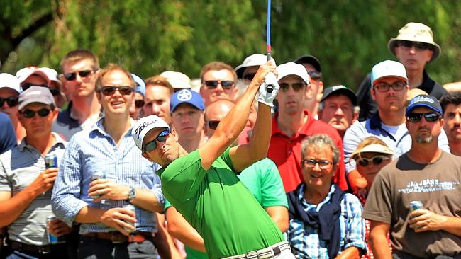 Adam Scott the centre of attention at the Australian Open at Royal Sydney. Picture: Mark Evans