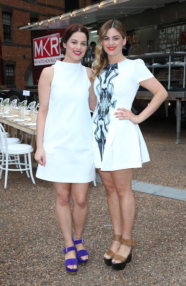 Tragic family secret revealed ... Helena and Vikki Moursellas at the launch of the 2014 season of Channel 7's My Kitchen Rule...