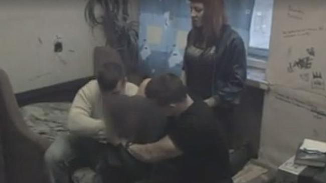 A victim can be seen being 'punished' in Channel 4 documentary Hunted. Picture: S...