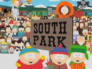 The cast and town of animated show South Park.