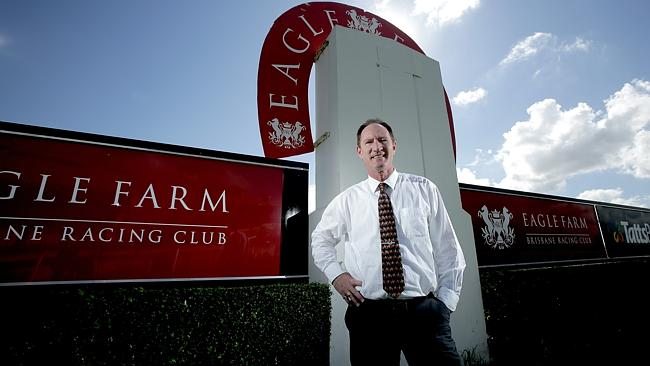 Racing Minister Steve Dickson at the outdated Eagle Farm track. The last two meetings on