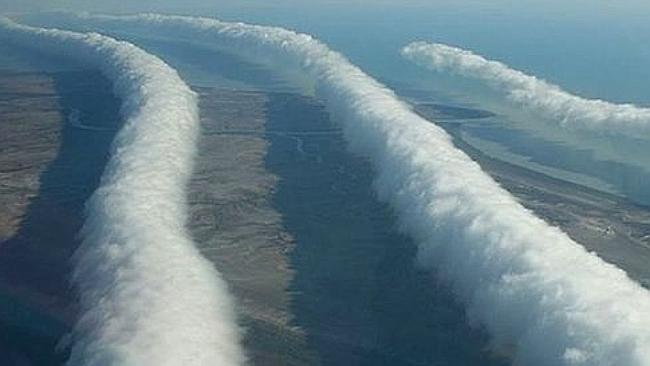 Morning glory clouds are a rare weather phenomenon coming to Queensland. Image: Supplied