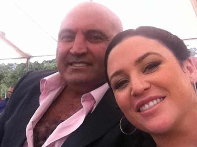 Sydney career criminal Joe Antoun, aged 50, pictured here with his partner Teagan Mullens