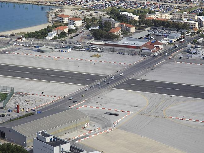 At Gibraltar Airport its Runway Intersects With The Busiest Road in City !!! | Take off with Natarajan