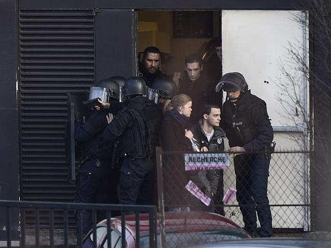 Evacuation ... French police special forces evacuated businesses and other properties in