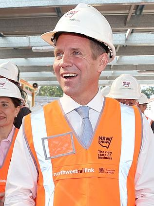 Premier Mike Baird and his government will continue to build NSW. Picture: Andrew Murray