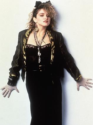 Madonna poses on the set of Desperately Seeking Susan in 1985. Picture: Mondadori Portfol