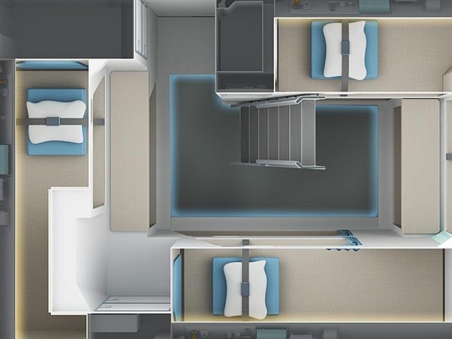 The new rest areas offer more privacy and better comfort. Picture: Zodiac Aerospace.