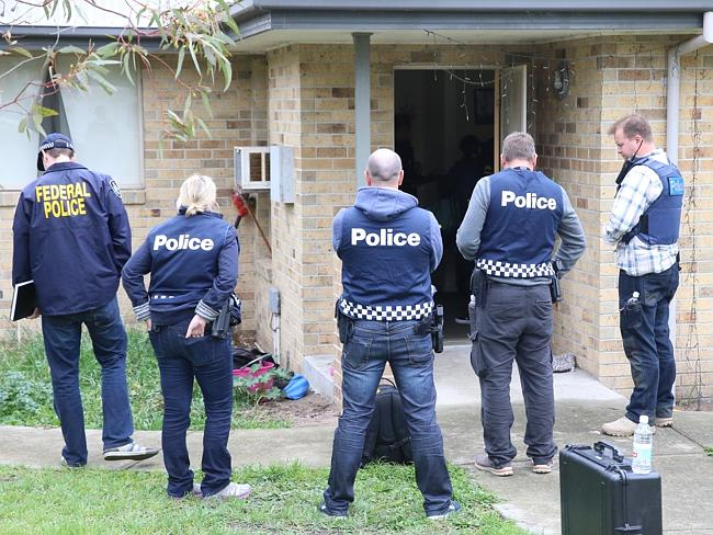 Terror raids in the eastern suburbs of Melbourne. Picture: Alex Coppel