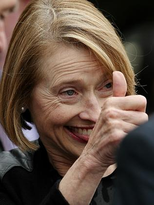 Gai Waterhouse gives the thumbs up after the win by Pornichet at Sandown last year. Pictu