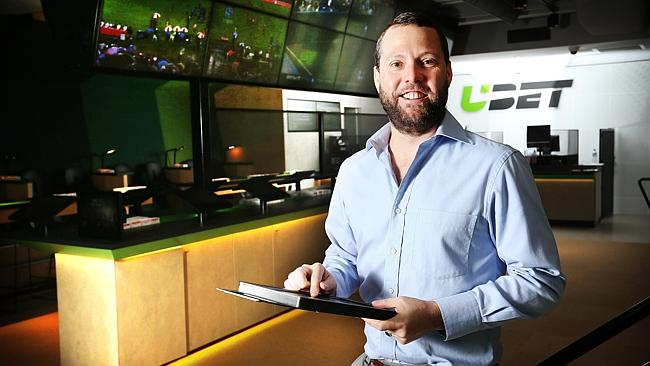 Punter Will Hunter, 38, at new UBET outlet in New Farm. Picture: Tara Croser